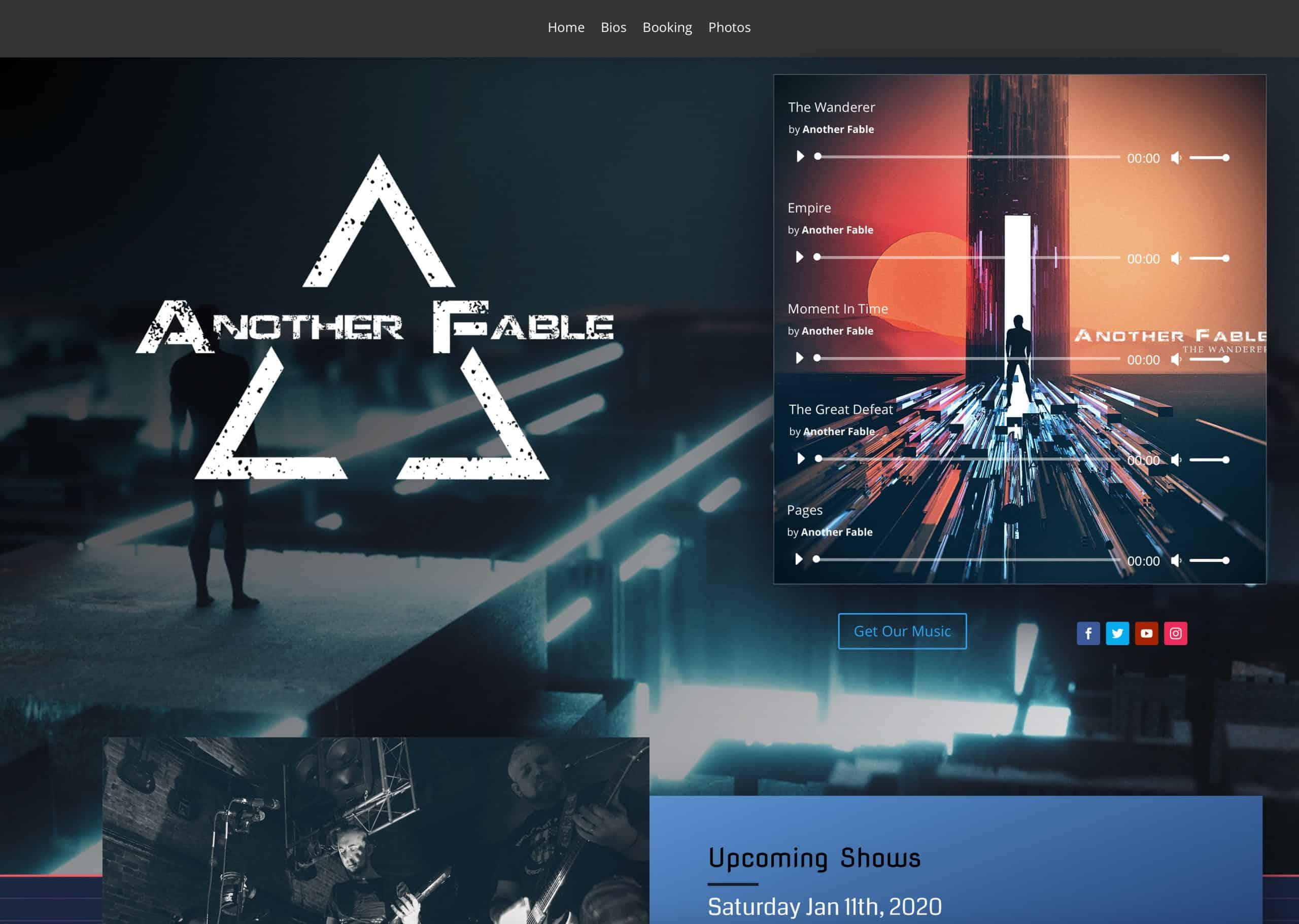 Affordable Web Design for Bands